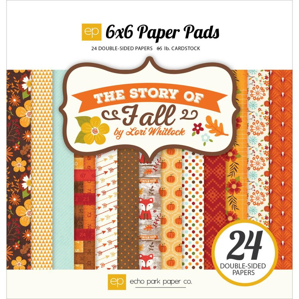 Paper Pads For Card Making Part - 46: The Story Of Fall 6x6 Paper Pad Echo Park Scrapbook Card Making Journal  Cards Autumn Flowers