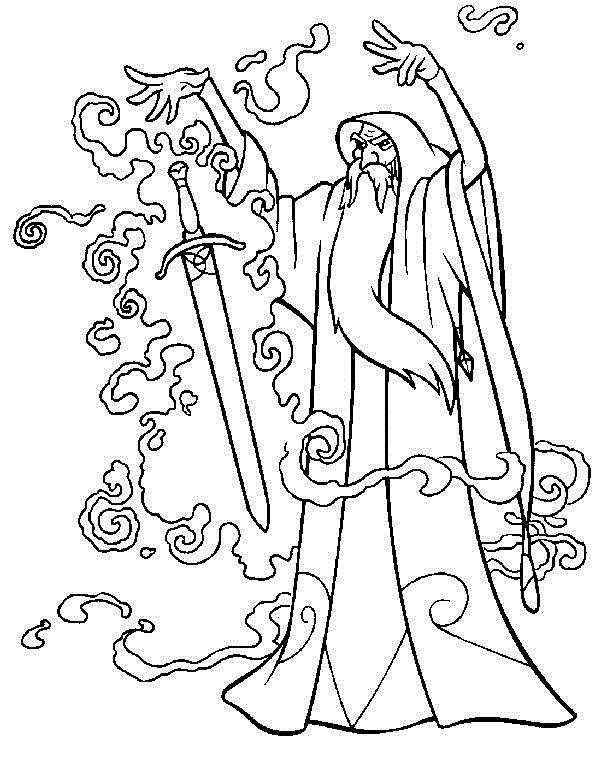 Tegninger til Farvelægning Det magiske sværd 9
