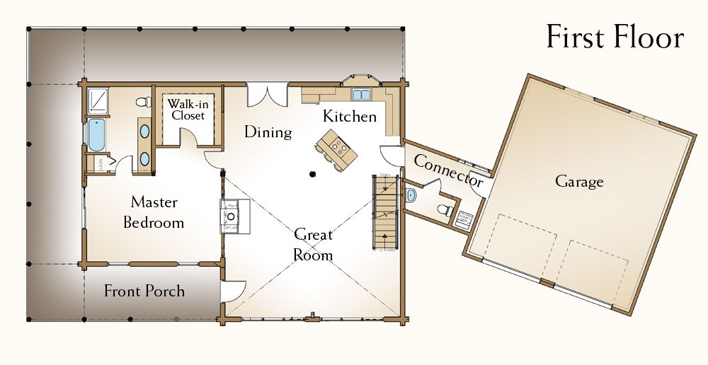 Pin By Megan Todd On Home Ideas Log Home Floor Plans Open Floor House Plans Cabin Plans With Loft