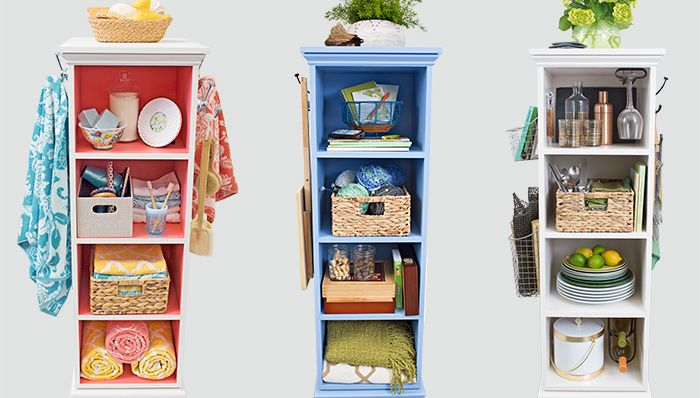 Superior DIY: How To Build A Rotating Storage Tower   Detailed Tutorial, Plans And  Video Show How To Build This Space Saving Unit That Would Work In Any Room  Of The ...