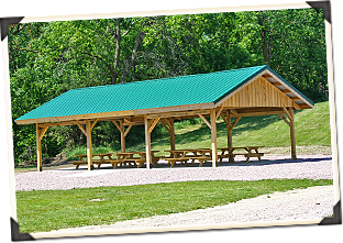 Back Yard Pavilion Plans Free Custom Wood Post And Beam Pavilions Picnic Shelters Sand Creek