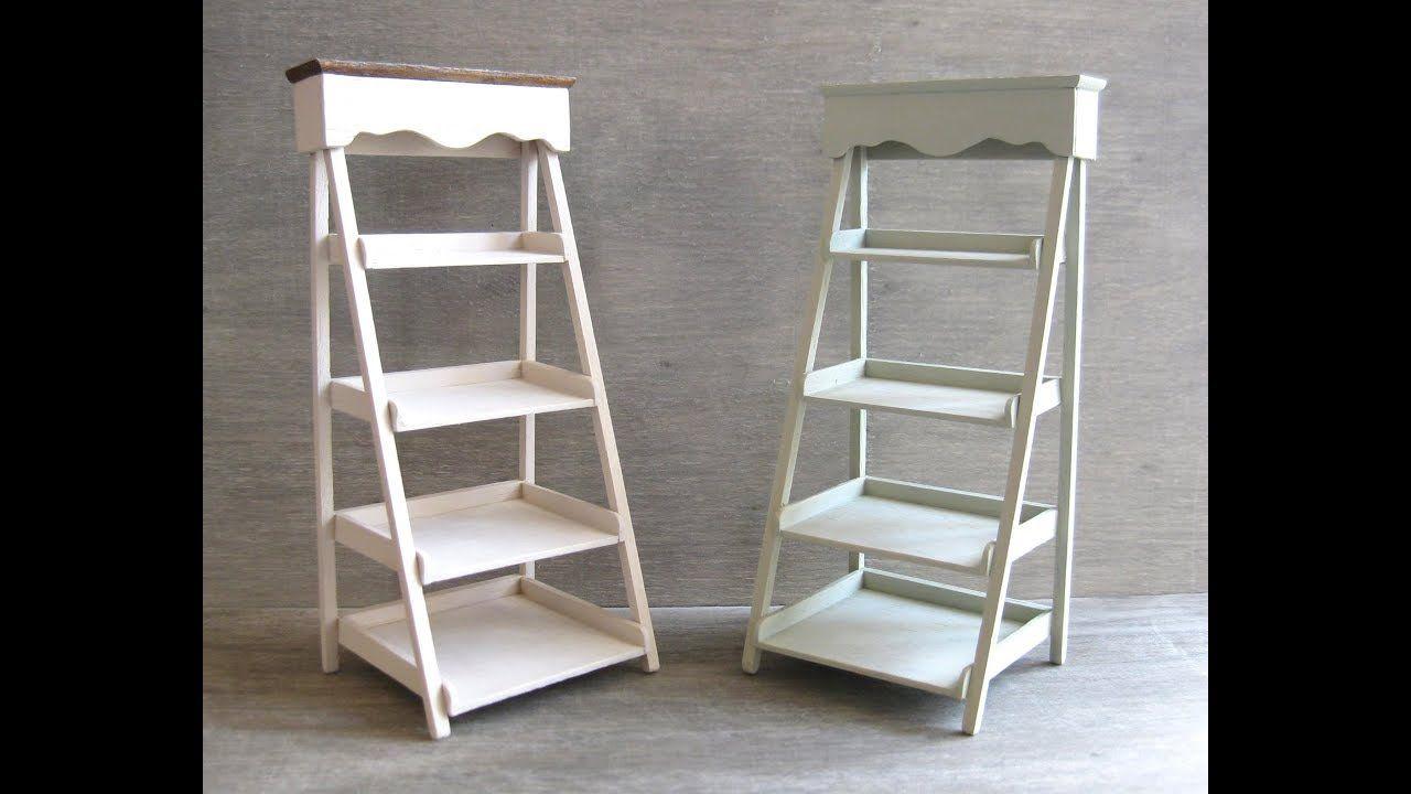 Tutorial miniature ladder shelf tutorials miniature furniture