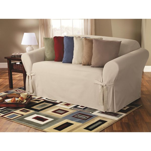 Sure Fit Classic Duck Washable Sofa Slipcover Warm