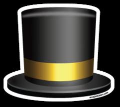 Top Hat Emoji Stickers Cartola Adesivos Emogis
