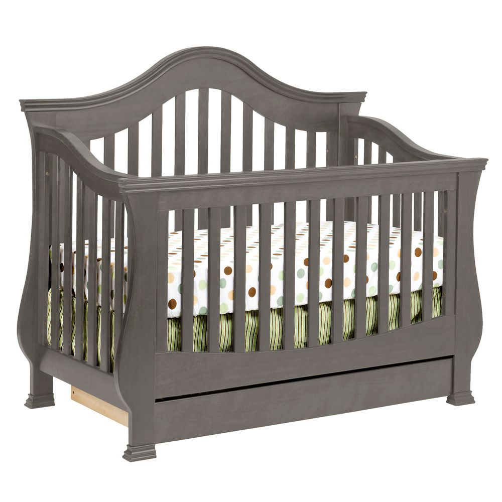 Million Dollar Baby Classic Ashbury Convertible Crib W Toddler Bed Conversion Manor Grey