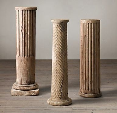 Make your own stone decorative column with pool for How to build decorative columns
