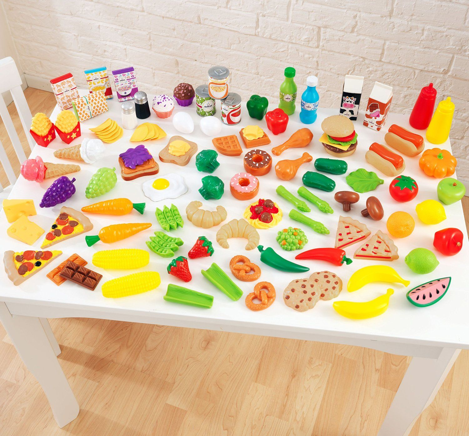 KidKraft Deluxe Tasty Treat Pretend Play Food Set 115 pieces