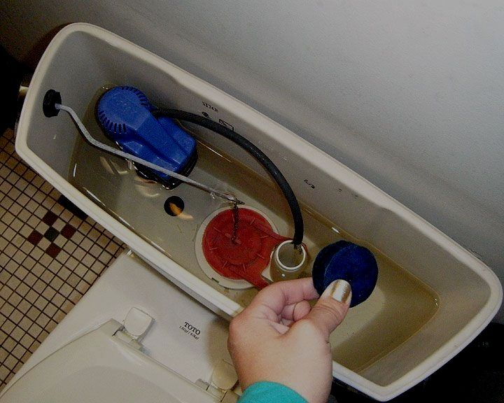 Are dropin toilet cleaners safe to use can damage inside