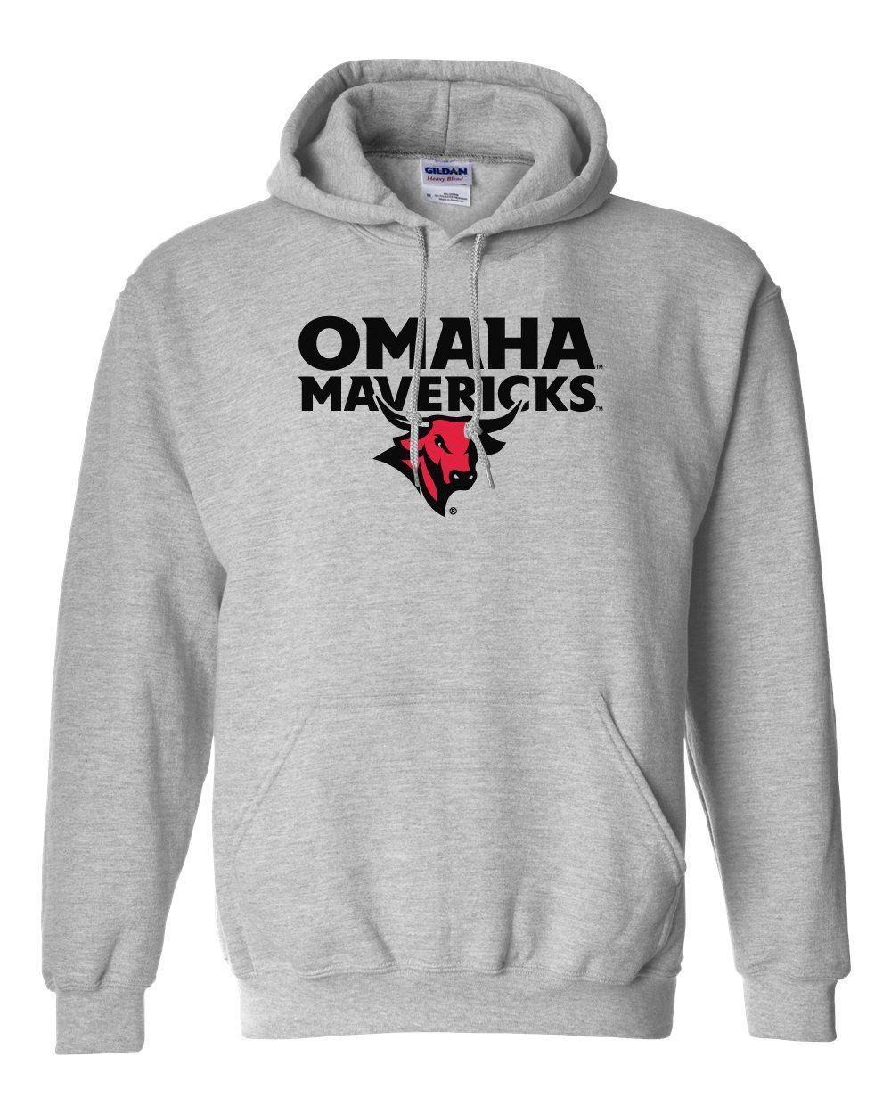 Omaha Mavericks Hooded Sweatshirt Omaha Mavericks With Bull On Gray Hooded Sweatshirts Sweatshirts Omaha Nebraska [ 1250 x 1000 Pixel ]