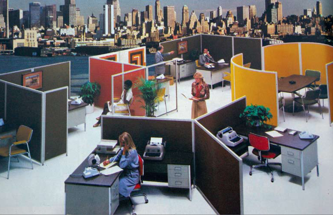 Image result for 60s cubicles retro assets pinterest for 60s office design