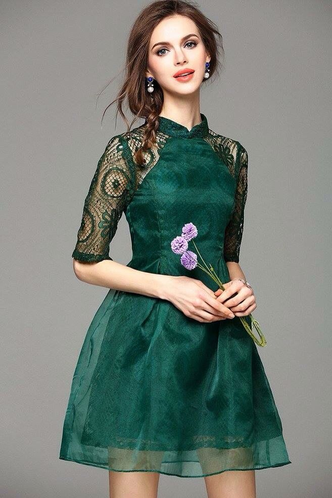 Discover thousands of images about 2 Piece Floral Qipao / Cheongsam Dress  in Organza
