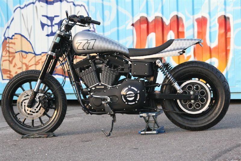 Tracker V � Custom Harley Davidson Dyna: Harley 1450HD Street Tracker Photos 135