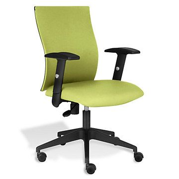 lime green office furniture. Kaja Contoured Task Chair In Fabric - JES-10560, Bright Colors, Lime Green Office Furniture