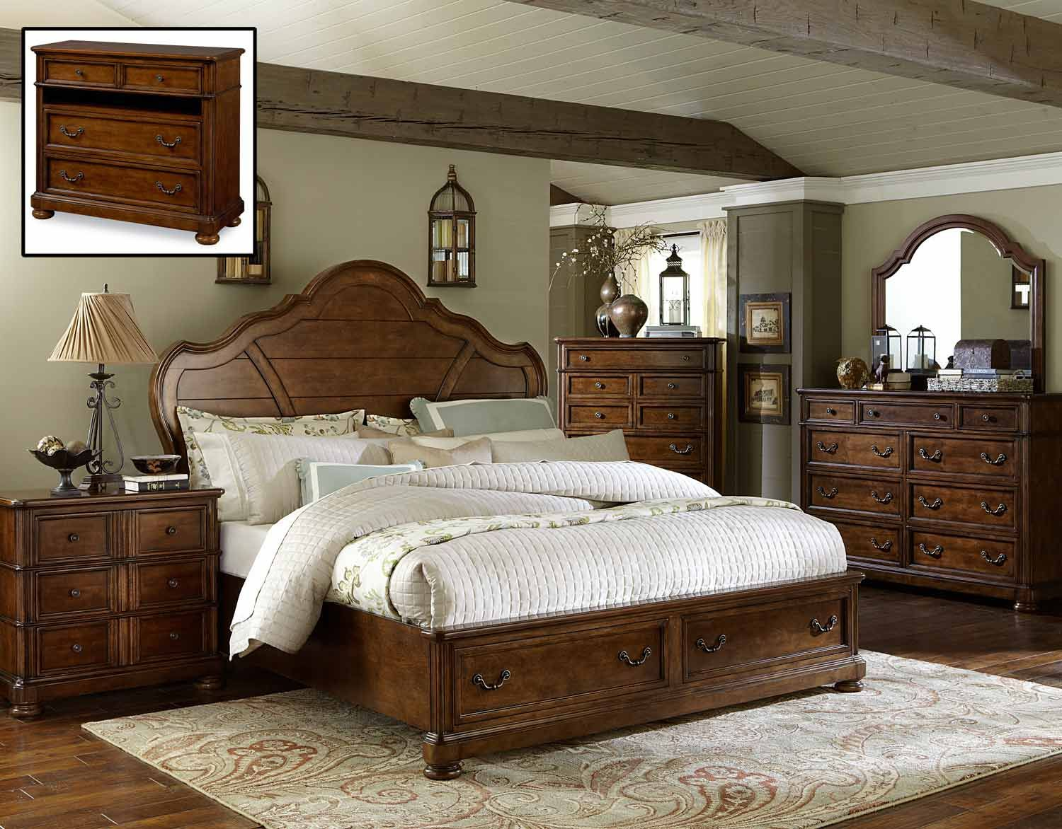 legacy classic summerfield panel storage bedroom set legacy