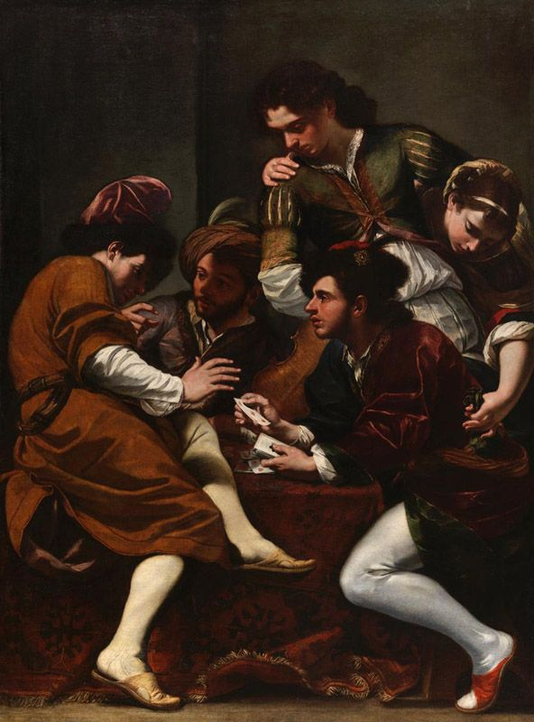 Giovanni Battista Boncori Campli Rome The Card Players - Who painted the card players