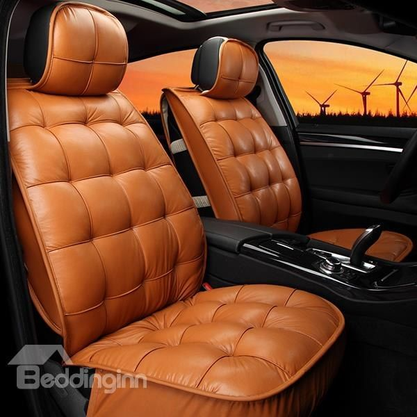 Elegant Super Comfortable Square Patterned Pure Colored Car Seat Cover Car Interior Upholstery Car Seats Carseat Cover
