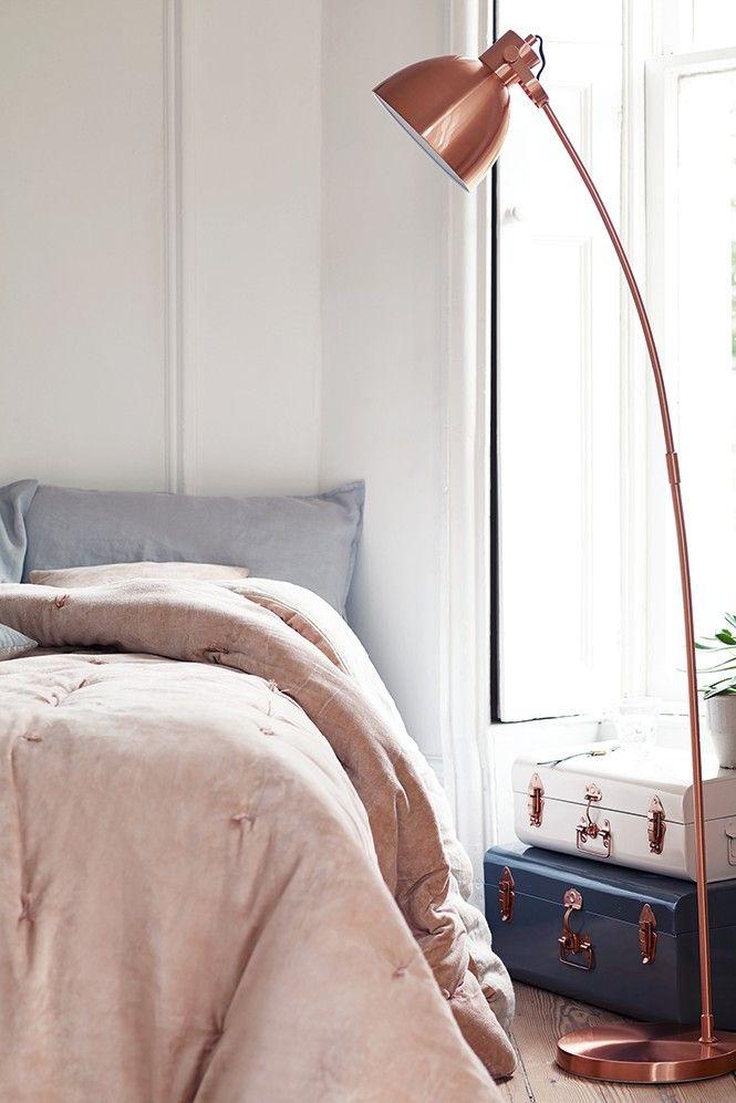 Home Decor Explosive Mix Copper Floor Lamps And Pink Details Lamp Standing Bedroom Lighting