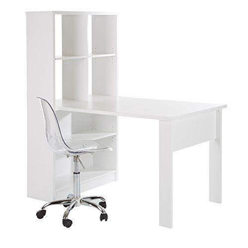 South Shore Annexe Pure White Work Table And Storage Unit