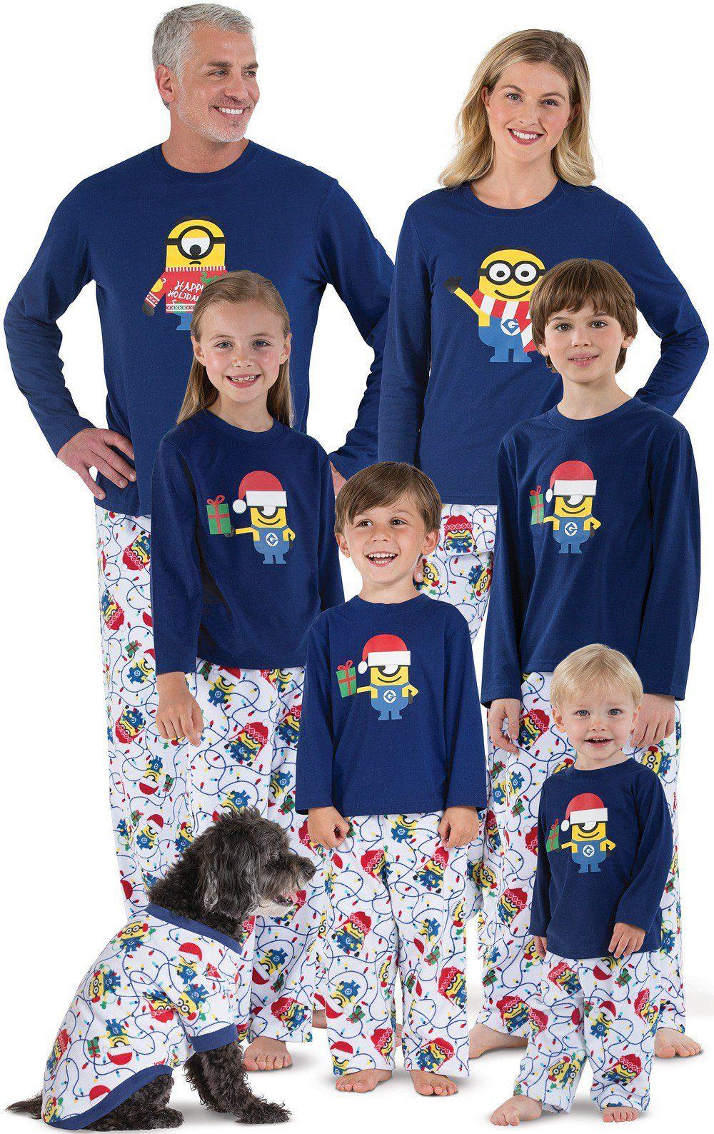 Family Christmas Pajamas Blue.Minions Matching Family Pajamas Want Matching Family