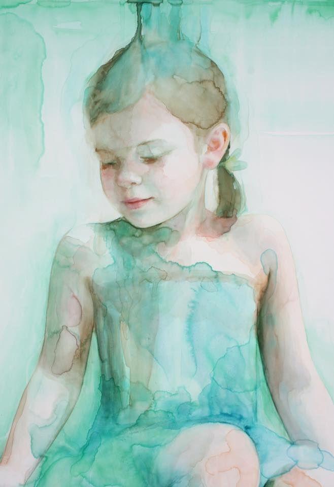 2017 — Ali Cavanaugh   Watercolor portrait painting