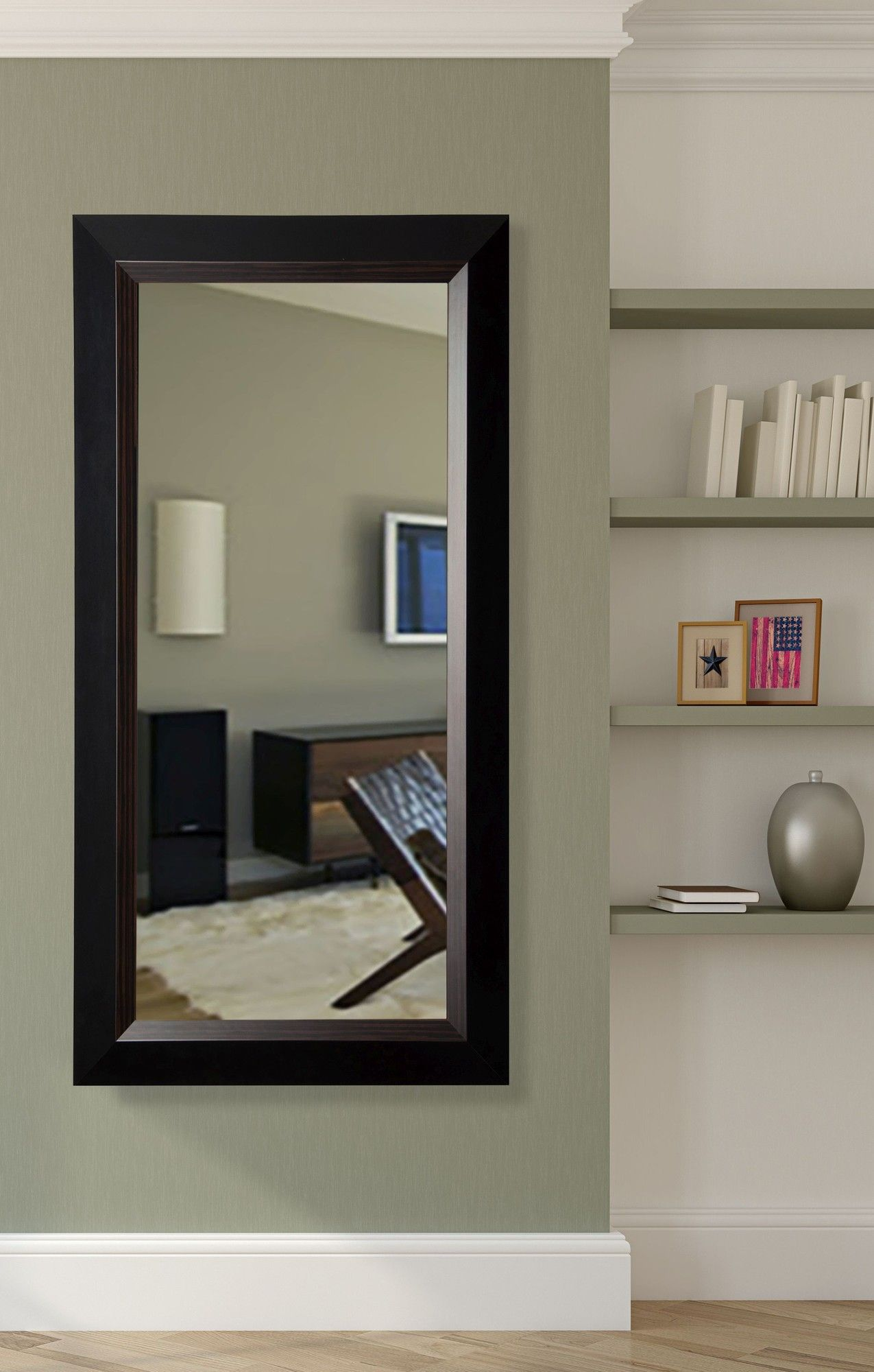 Brown Lining Tall Mirror | Tall mirror, Floor mirror ...