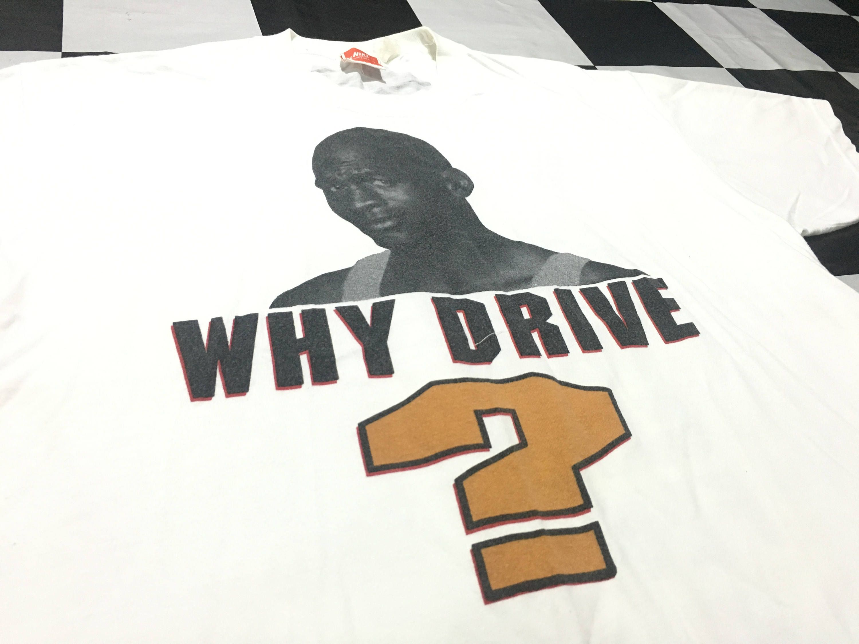 9e3bbf43a65 Vintage Nike t-shirt Michael jordan 2 side printed why drive ? when you can  fly ! Size M Good condition by AlivevintageShop on Etsy