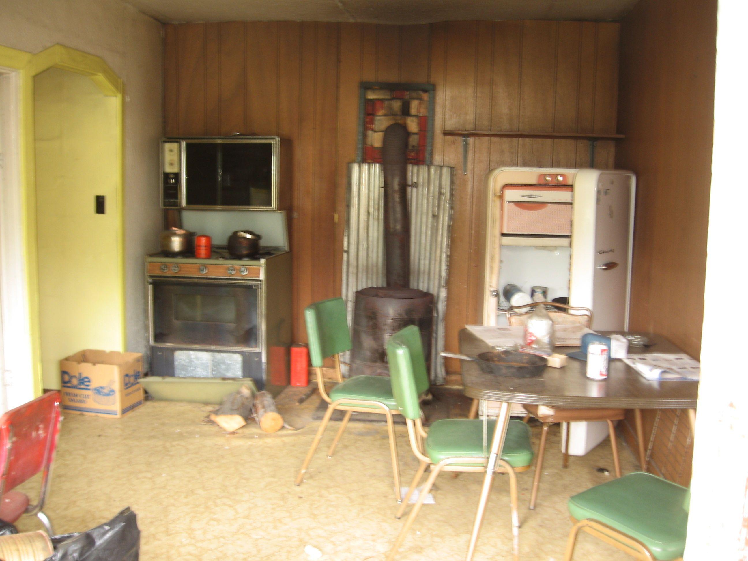 abandoned kitchen Northern B.C. 2008 Apartment kitchen