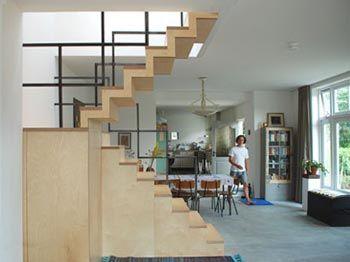 Blok meubel moderne houten design trap uit woonideeen