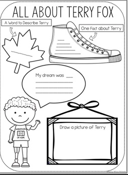 Terry Fox Activities For Kids That Include Writing Prompts Reading Math Mapping Activities Great Fo School Age Activities Map Activities Writing Activities