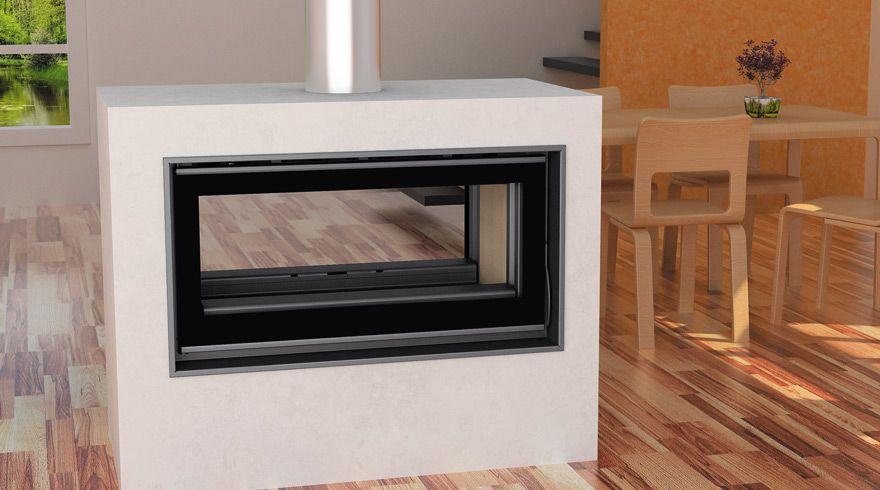 La estufa insertable de le a h 100 plus coble cara carbel - Chimeneas cassette precios ...