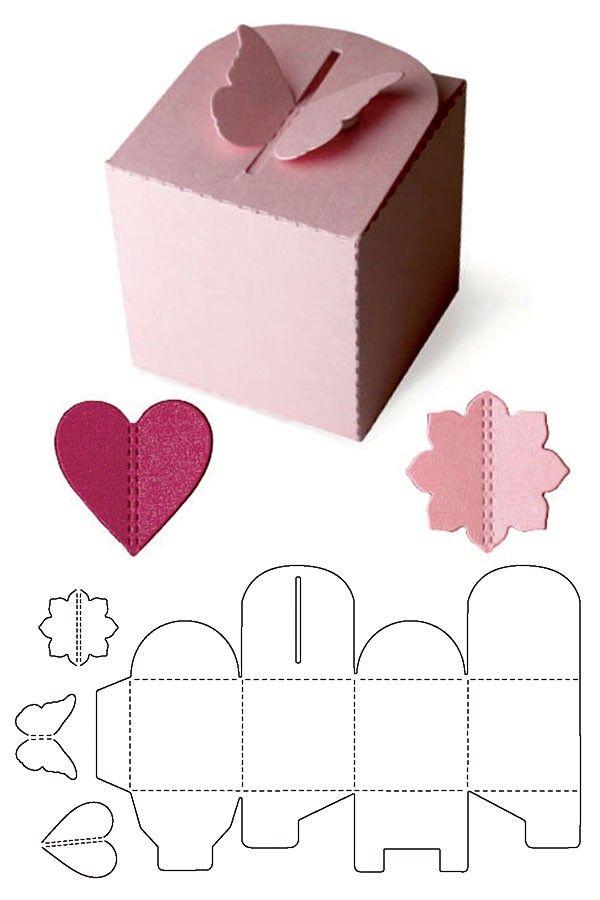Geschenkbox Schmetterling Basteln Pinterest – Paper Gift Boxes Templates