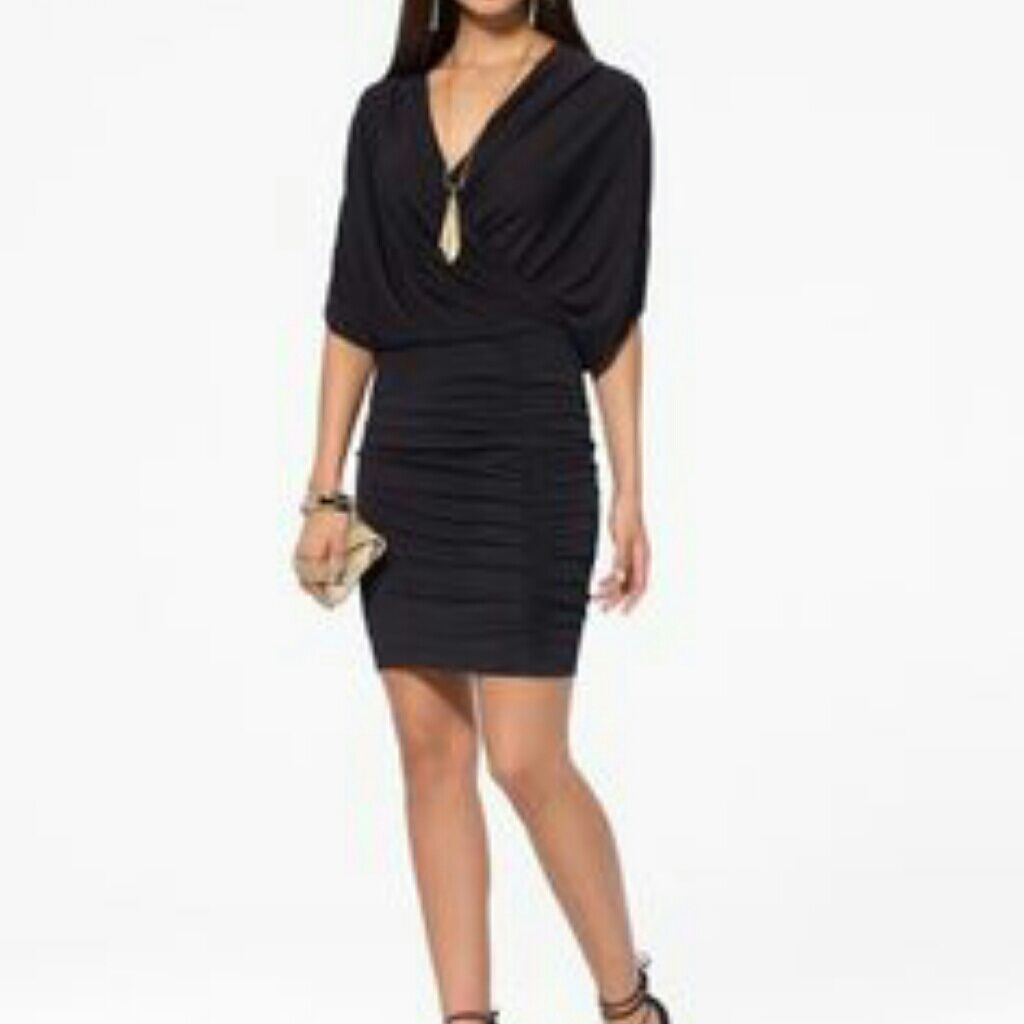 6c3e566e1363e Cache Black Blouson Dress NWT