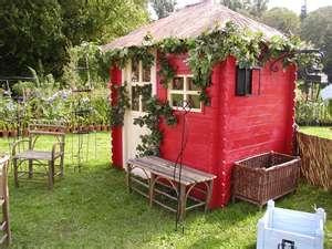 Abri de jardin rouge. http://www.m-habitat.fr/abri-de-jardin ...