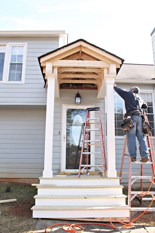 Building A Front Portico Home House Front Split Level