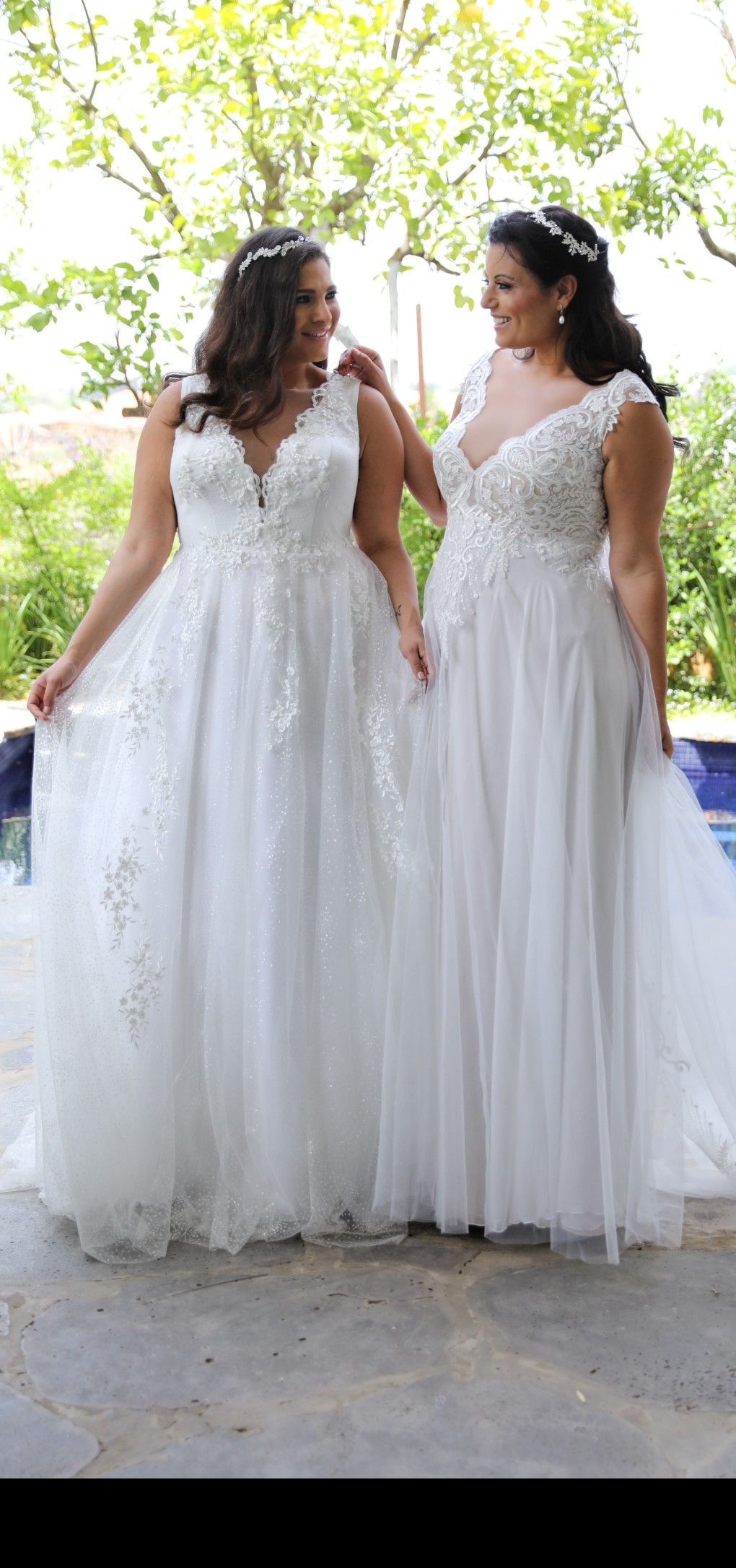 Stunning plus size wedding gowns from Studio Levana. Tracie and ...