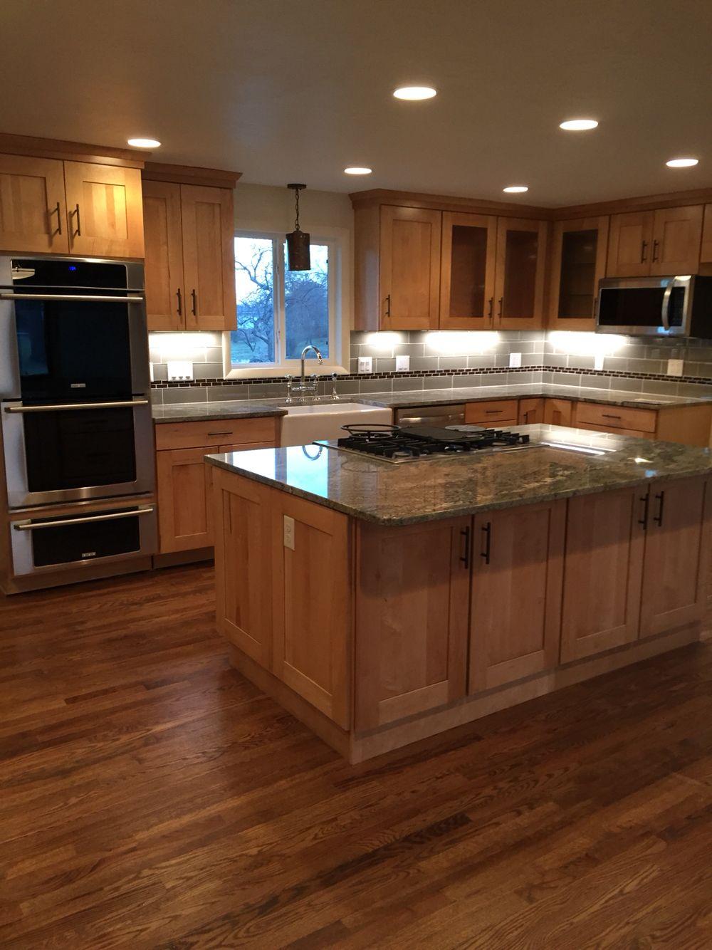 beautiful grey backsplash maple cabinets kitchen on kitchen ideas gray id=55354