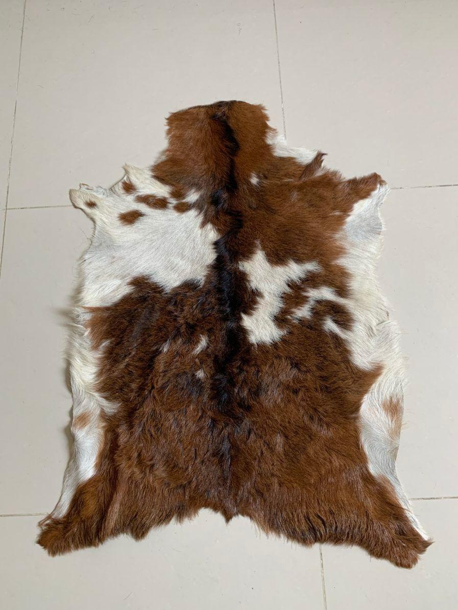 Real Goat Skin Rug Animal Hide Genuine