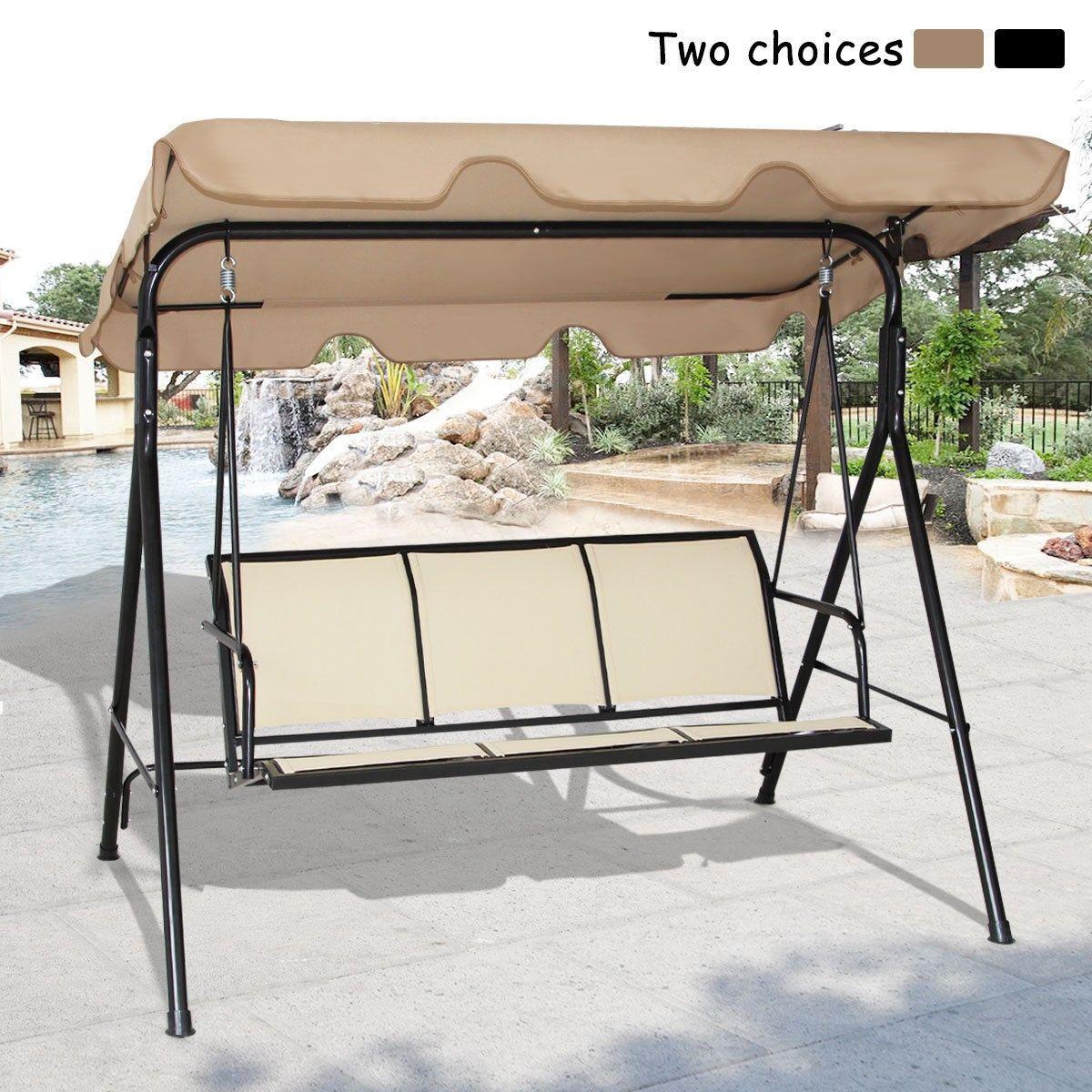 Costway outdoor canopy swing chair seater hammock garden patio
