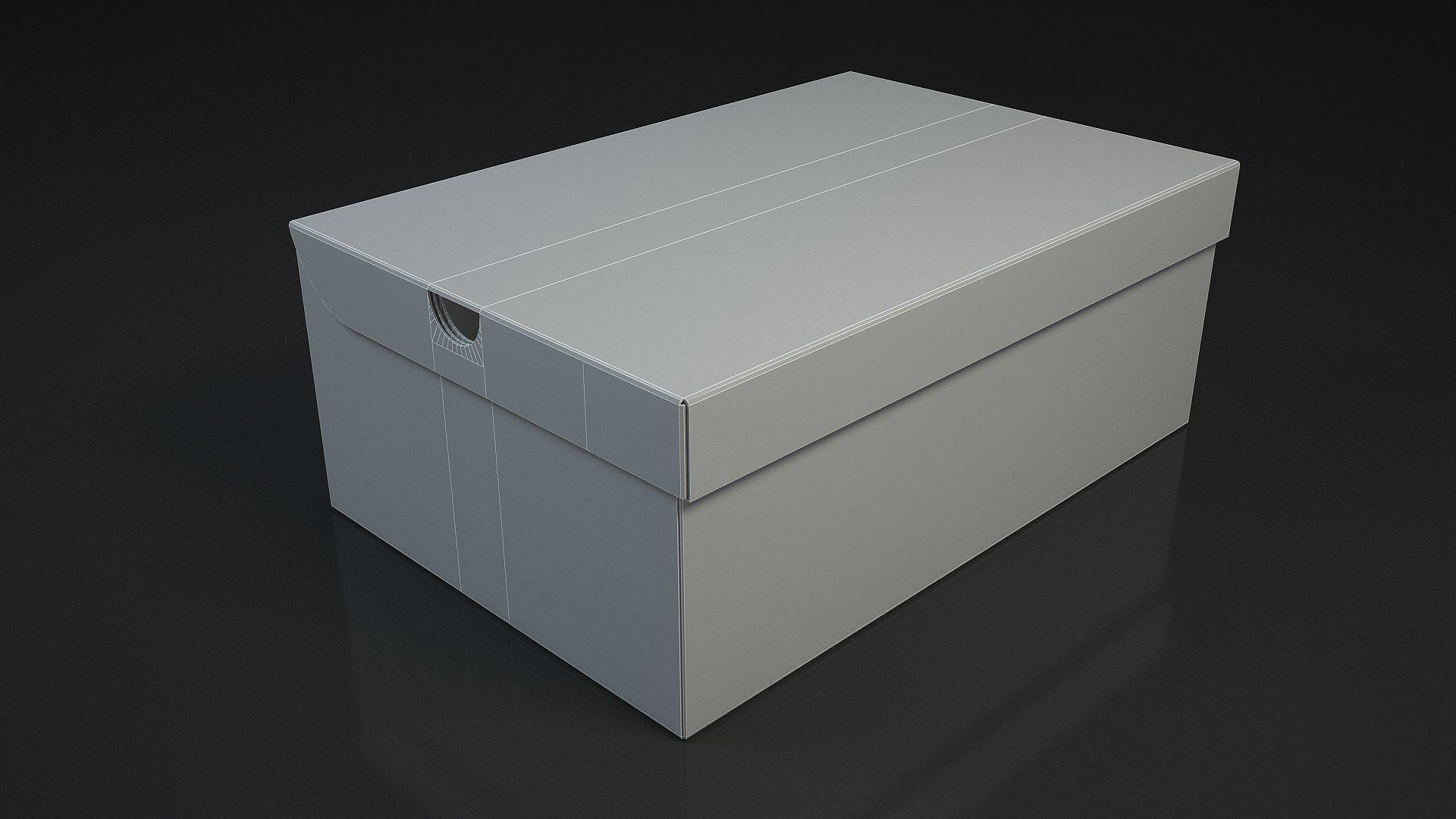 Shoe Box Nike 3d 3d Model Closed Open Types Created Shoe Box Outdoor Storage Box 3d Model