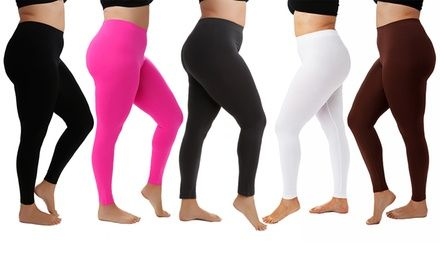 3b512c4781f Women s Plus Size Slimming Leggings (5-Pack)