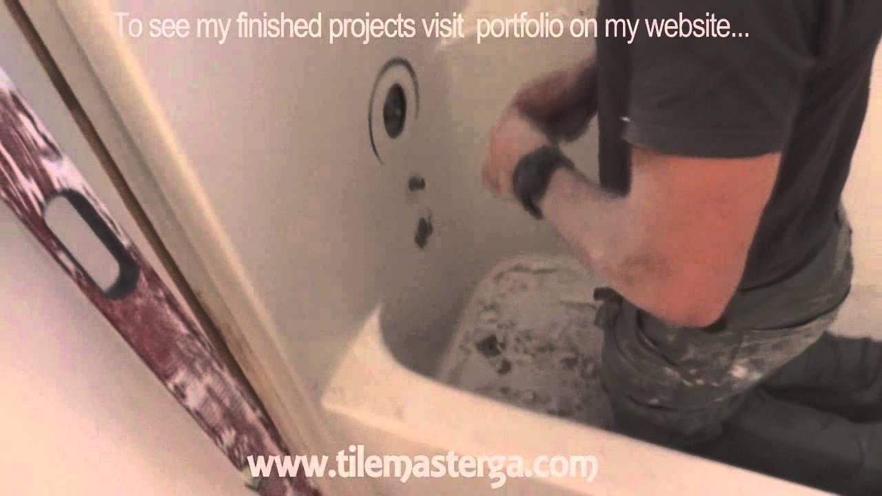 How to remove tub, fiberglass shower enclosure demo, tear-out-an am ...