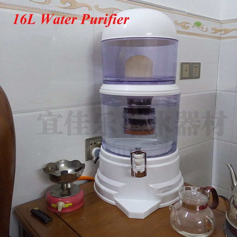 (45.00$)  Watch here - http://aikuy.worlditems.win/all/product.php?id=32672851489 - 16L Water Filter Barrels Mineral Pot Water Treatment Filter Alkaline Straight Drink Bucket Dispenser Water Purifier