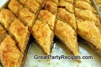 Baklava--tried this at a Greek restaurant and LOVED it. I am going to try this.