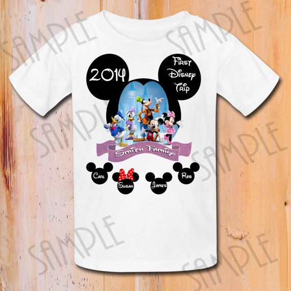 Disney family vacation t shirts iron on transfer printable for Custom t shirts family vacation