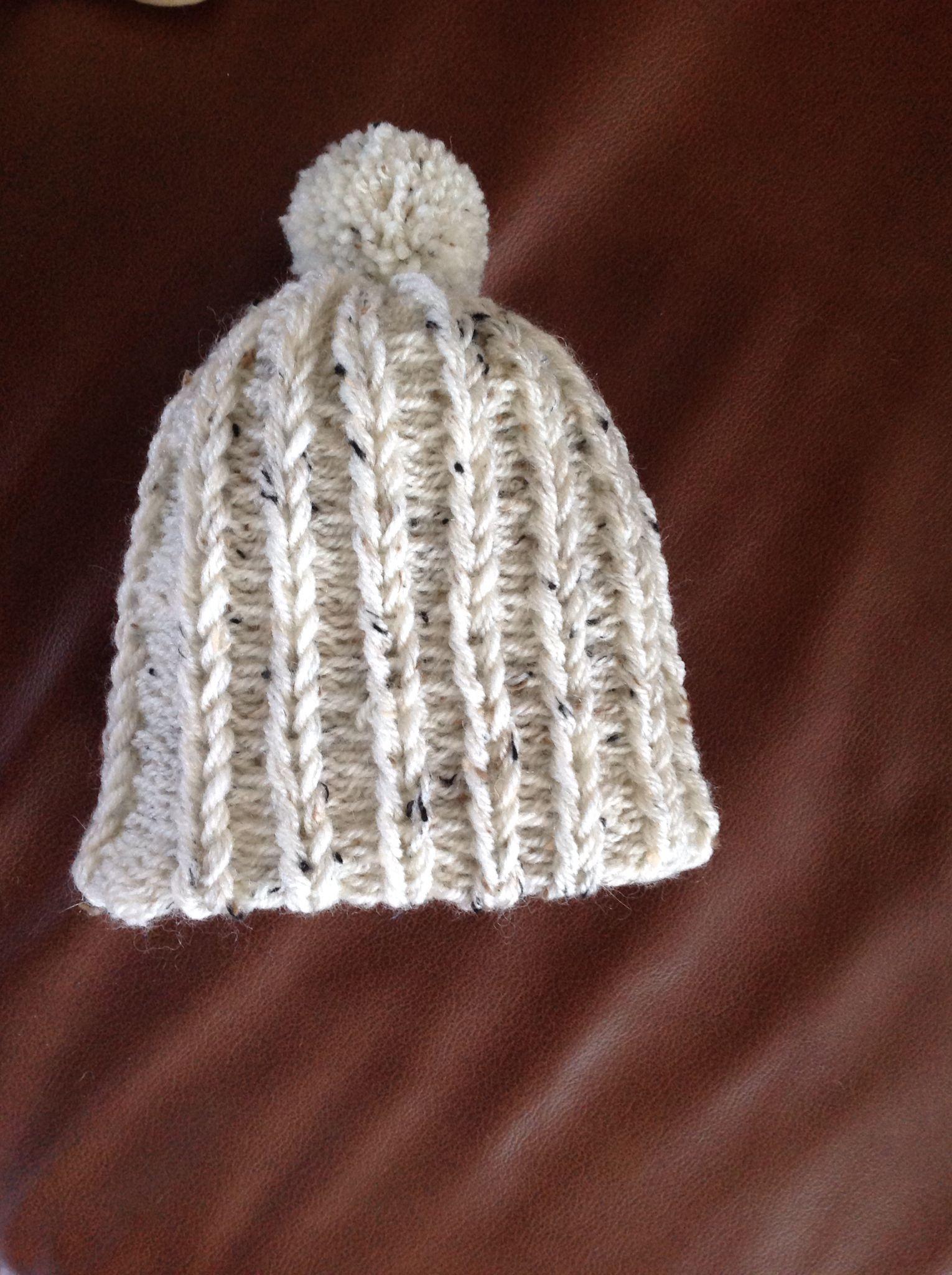 Ribbed baby hat - addi express kingsize | addi king | Pinterest