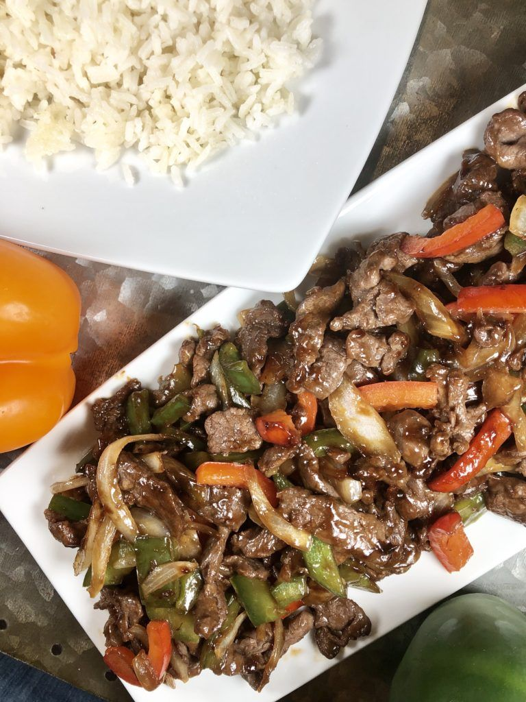 pepper steak is a tasty asian style dish served on a bed of white rice recipe in 2020 pepper steak stuffed peppers beef recipes easy pinterest