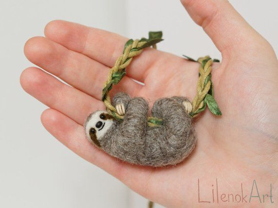 Sloth Necklace Cute Sloth Pendant Sloth Jewelry Baby Sloth Gift