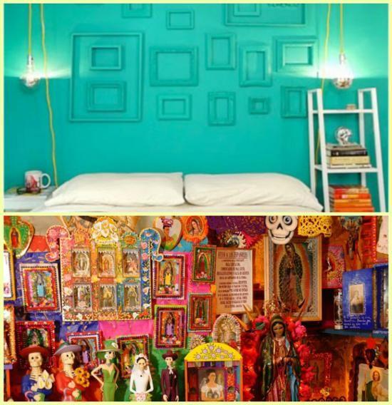 cores de paredes decoracao mexicana