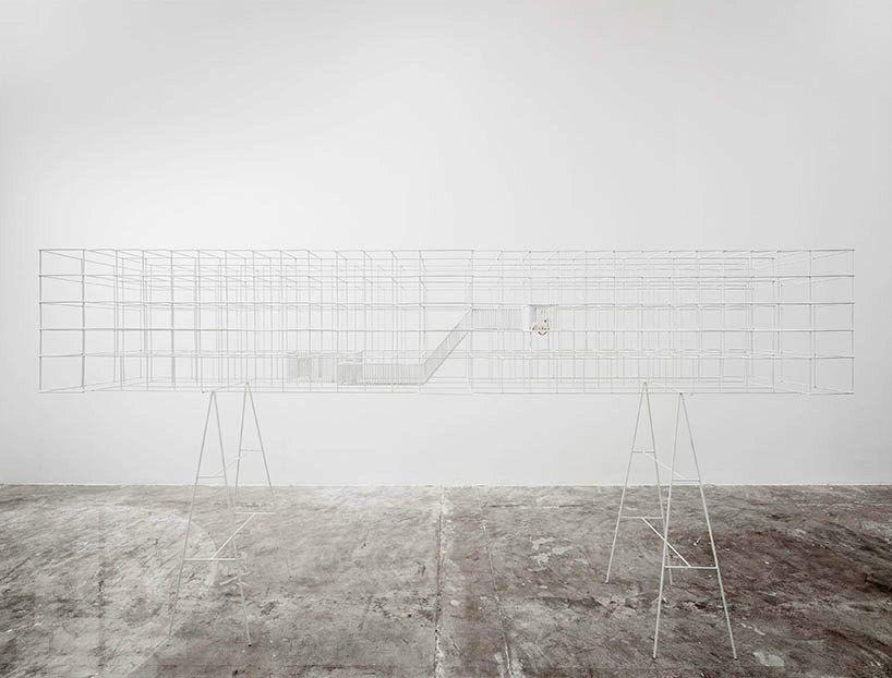 a reinterpreted prison as sculptural mouse cage by BUREAU A - designboom | architecture