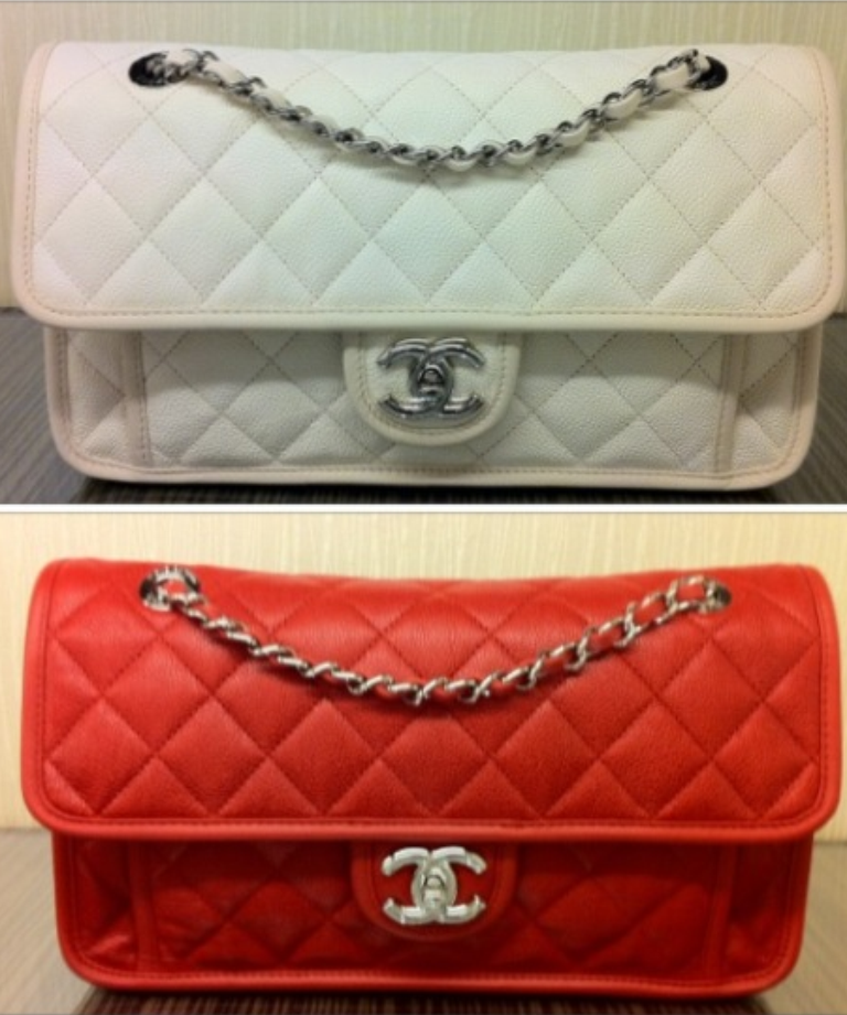 dd983d12206f Chanel Ivory and Red French Riviera Medium Flap Bags